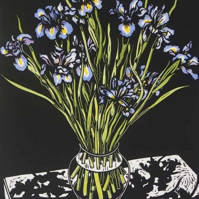 david preston, linocut print, iris artwork
