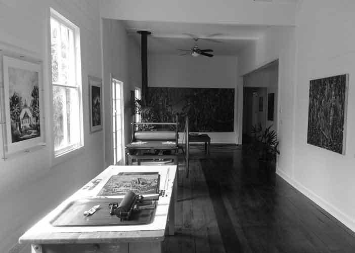 David Preston's Studio, uki artist studio, david preston artist